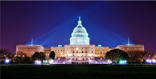 White House Washington Dc Canvas Wall Art Print, 5 Stars Gift Startonight 23.62 X 47.2 Inch front-84529