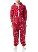 ZIPUPS Mono-Pijama Snowflakes (Rojo)