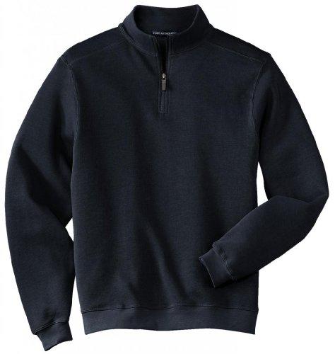 Port Authority®- Flatback Rib 1/4-Zip Pullover, Navy, 3XL
