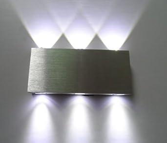 Hardwired Wall Light Fixture : Amzdeal 6w Rectangle LED Wall Sconces Light Fixture Hardwired for Theater Disco Studio Store ...