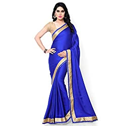 Sarvagny Clothings Blue Jacquard Fashion Saree (BLUE-LATKAN)