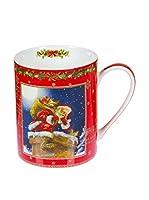 Vintage Selection Set Taza De Desayuno 2 Uds. Porcelana Navidad Rojo