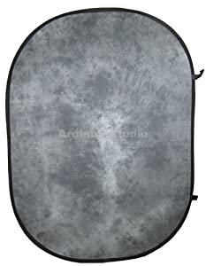 Ardinbir Photo Studio 5' x 7' 150x200cm Portable Pop up Patterned Gray Background Backdrop Panel Screen