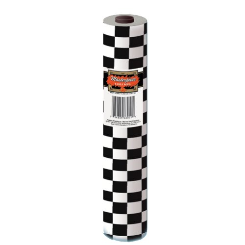 Checkered Table Roll (black & white) Party Accessory  (1 count) (1/Pkg) (Black White Table compare prices)