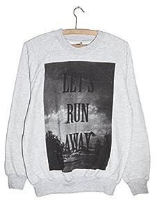 Run Away Hippie, Peace & Love Grunge Chic Sweatshirt