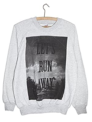 Run Away Hippie, Peace & Love Grunge Chic Sweatshirt