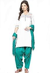 Soundarya Ethnicwear Cotton Free Size Patiala Salwar with Dupatta for Women (PAT4)