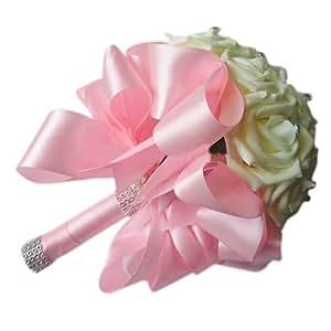 toogoo r beautiful wedding bouquet bridal bridesmaid flower wedding bouquet. Black Bedroom Furniture Sets. Home Design Ideas