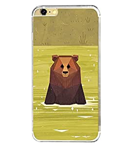 Bear in River 2D Hard Polycarbonate Designer Back Case Cover for Apple iPhone 6 Plus :: Apple iPhone 6+