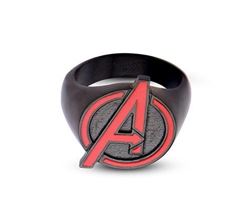 Marvel Avengers Age Of Ultron Avengers Logo anello in acciaio inox, Acciaio inossidabile, 9, cod. AVGRFR02-9