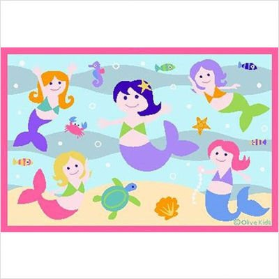 Olive Kids Mermaid Rug Size: 3'3'' x 4'10''