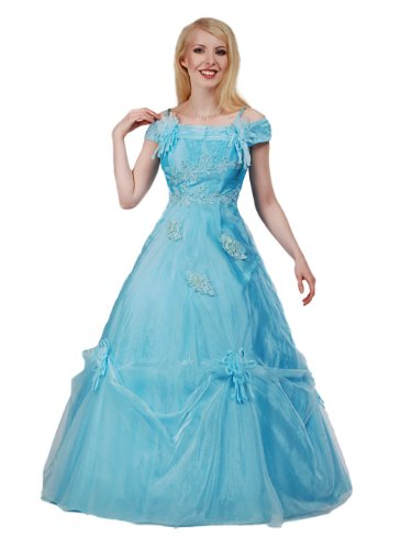 Envie/Paris – 1010 SISSI Abendkleid Ballkleid 1-teilig in Türkis Gr. 42 / 144 cm