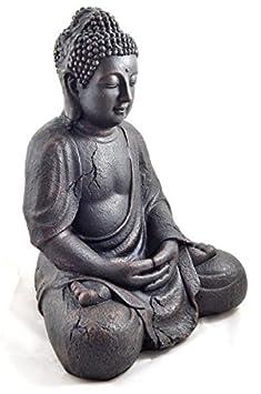 1 bouddha statue tr s tr s grande 41 5cm jardin pour int rieur et ext rieur statuette. Black Bedroom Furniture Sets. Home Design Ideas