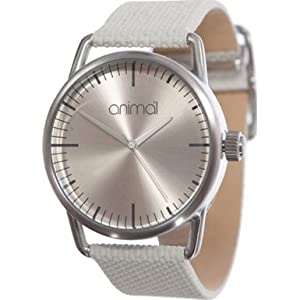 Animal Baise Women's Quartz Watch with Silver Dial Analogue Display and Silver Stainless Steel Strap WW3WC041 - Z67 - O/S