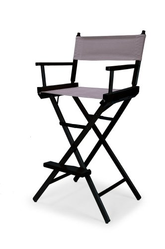 Telescope Casual Heritage Bar Height Director Chair, Grey with Black Frame
