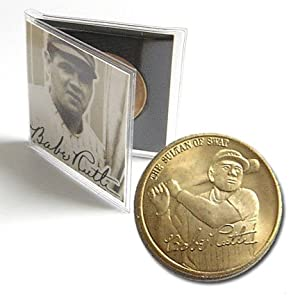 BABE RUTH 24K GOLD PLATED COLLECTIBLE COIN