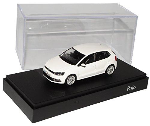 VW-Volkswagen-Polo-Pure-Weiss-5-Trer-Modell-Ab-2009-Ab-Facelift-2014-V-Typ-6C-143-Herpa-Modell-Auto-mit-individiuellem-Wunschkennzeichen