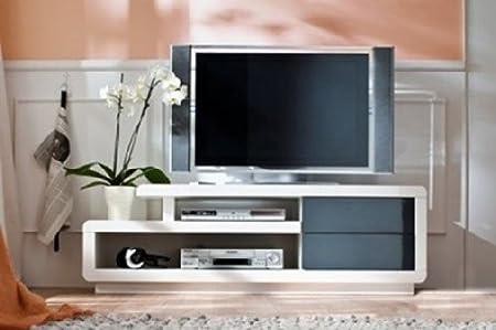 TV-Lowboard Hifi-Element TV-Bank TV-Rack TV-Tisch Cosima Hochglanz weiss NEU