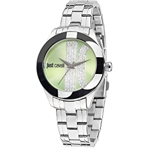Just Cavalli R7253592502 Women's Silk Green Dial Watch