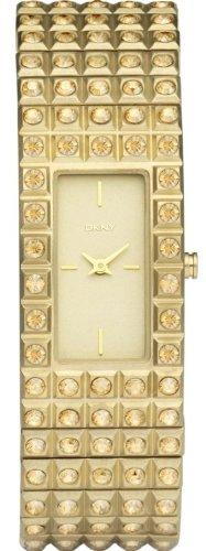 Женские наручные часы DKNY Crystals Gold-tone Expansion Bracelet Champagne Dial Women's watch #NY8245