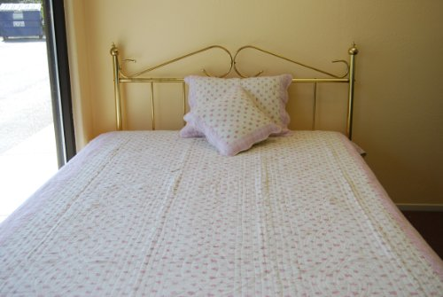 Rose Garden Reversible Quilt Blanket Twin Full front-746658