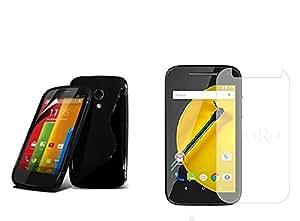 Moto E2 Quality Back Cover For Moto E2 + Tempered Glass For Moto E2