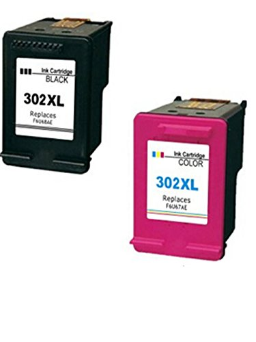 4inx Replacement for HP 302XL Ink Cartridge Remanufactured for HP Envy 4520 Printers (1 Black& 1 Colour)