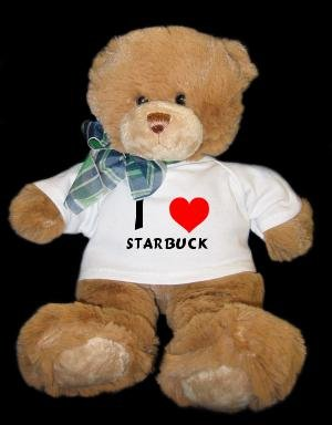 Plush Brown Teddy Bear (Dean)  I Love Starbuck