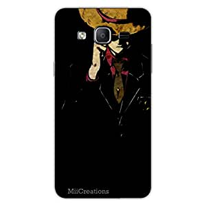 MiiCreations 3D Printed Back Cover for Samsung Galaxy On7,Gentelman