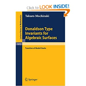Donaldson Type Invariants for Algebraic Surfaces: Transition of Moduli Stacks Takuro Mochizuki
