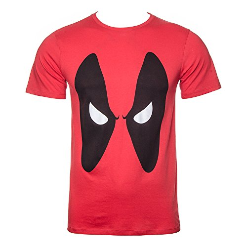 Deadpool Angry Eyes T-Shirt rosso L
