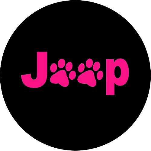 Jeep Paws Pink Tire Cover (Jeep Paw Print Tire Cover compare prices)
