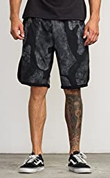 RVCA Men\'s VA Sport Short II,Black Print,XX-Large