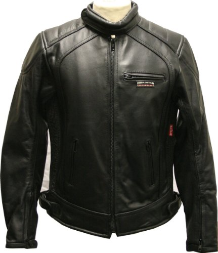 Childrens Kids Padded - Leather Motorcycle Biker Jacket Black - 32 (11-12yrs)