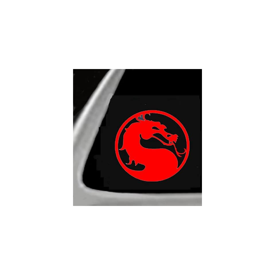 MORTAL COMBAT DRAGON, RED 5 Vinyl STICKER/ DECAL for Cars,Trucks,Guitar cases Etc.
