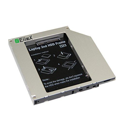 "EiioX 2.5""/12.7mm IED Festplatten 2nd SSD HDD Caddy Adapter für DELL Inspiron: 300M, 500M, 505M, 510M, 600M, 8500, 8600, 9100, XPS GEN1 DELL Latitude: D500, D505, D510, D520, D530, D600, D610, D620, D630, D800, D810, D820, D830, D8100, D5100 , X1, X300, D400, D410, D420, D430 DELL Precision: M60, M70, M65 (2.5'/12.7mm IDE HDD)"