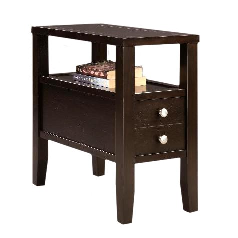 """Cappuccino Espresso Finish Wood Bed Side Table 24"""""""