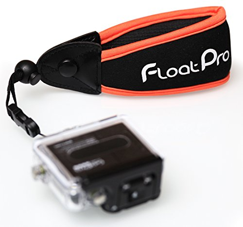 Floating Wrist Strap For GoPro & Waterproof Camera (Orange). #1 Must-Have Float Accessories. 1-Year Warranty.