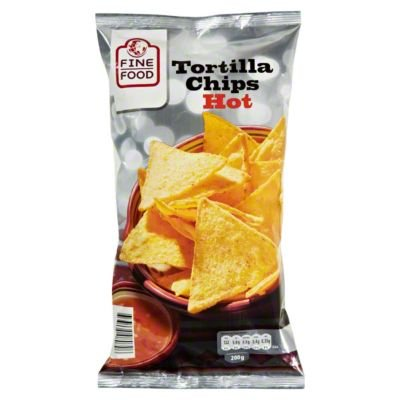 Fine Food Tortilla Chips Hot, 200g