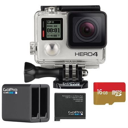 GoPro HD Hero4 Silver Action Camcorder with Dual Battery Charger