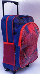 The Amazing Spiderman Childrens Suitcase Luggage Trolley
