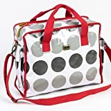 Fun and Funky Two Tone Grey Spot Red Trim by CABOODLE