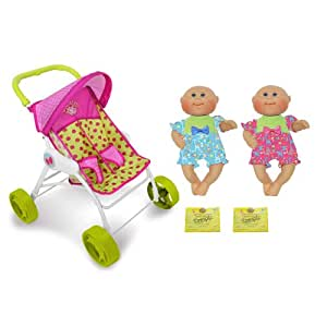 Amazon.com: Cabbage Patch Twin Cuddler Stroller Boy Girl ...