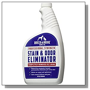 Professional Strength Stain & Odor Eliminator - Enzyme-Powered Pet Odor & Stain Remover for Dogs and Cat Urine - Spot Carpet Cleaner - Small Animal Odor Remover (32 oz)