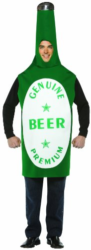 Rasta Imposta Lightweight Beer Bottle Costume, Green/White, One Size