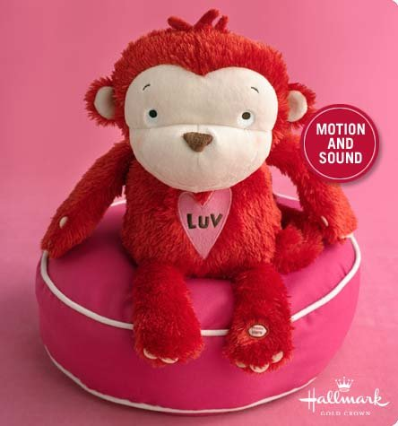 "Hallmark Luv Monkey 12"" Animated Plush"