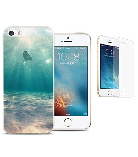 iphone-55sSE-Hlle-ISENPENK-ultra-slim-3D-creative-soft-TPU-Silikon-Transparent-Schutzhlle-Case-thin-Schne-Landschaft-Hlle-fr-iphone-55sSE-40-Zoll-Meeresgrund-Panzerglas-Folie-Display-foile-display-sch