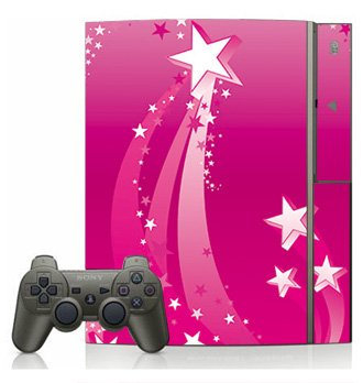 Pink Star Burst Skin For Sony Playstation 3 Console