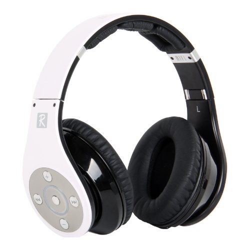 Bluedio Model R Revolution 8 Tracks Built In Mp3 Player Hi-Fi Rank Wireless & Bluetooth Headphones (White)