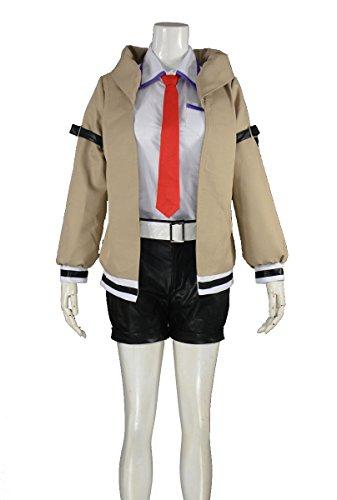 [RedstarCosplay Steins Gate Makise Kurisu Cosplay Costume - Female S] (Kurisu Makise Cosplay Costume)
